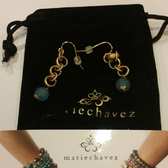 29eba1c27 Marie Chavez Jewelry | Blue Jade Dangle Drop Earrings Gold | Poshmark